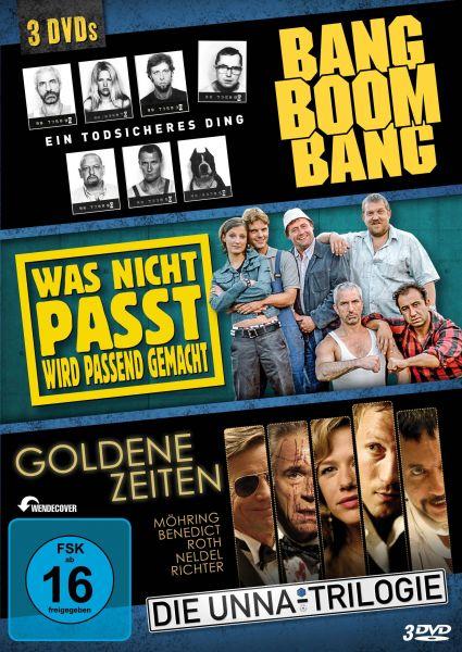 3 Filme, 3 DVD: Bang Boom Bang, Was nicht passt, Goldene Zeiten (Die Unna-Trilogie)