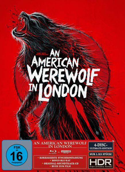 An American Werewolf in London - Ultimate Edition B - (UHD + 2 Blu-ray + CD) (S.Woolston Artwork) (