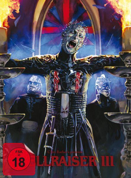 Hellraiser III (BD+DVD-Mediabook - Cover B, Timo Würz) (Uncut)