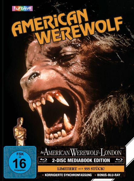 AN AMERICAN WEREWOLF IN LONDON 2-Disc-Mediabook (Blu-ray + Bonus-Blu-ray) (GER-VHS-Cover) - 555 Stk