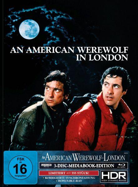 AN AMERICAN WEREWOLF IN LONDON 3-Disc-Mediabook (UHD + 2x Blu-ray) (US-Artwork) - 555 Stk.