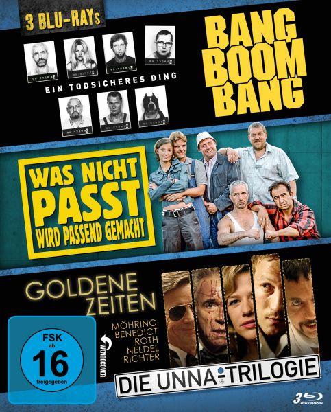 3 Filme, 3 Blu-ray: Bang Boom Bang, Was nicht passt, Goldene Zeiten (Die Unna-Triloige)