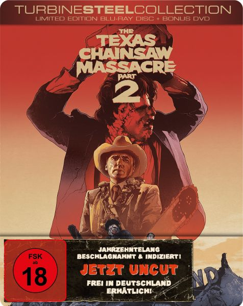 The Texas Chainsaw Massacre 2 (Limited Edition Turbine Steel) (Blu-ray + Bonus-DVD)