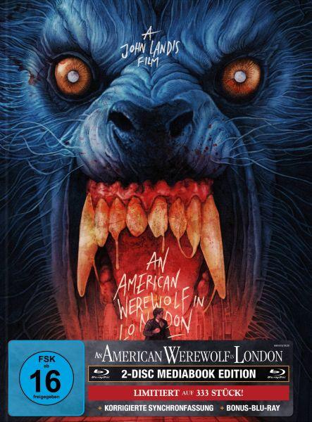 AN AMERICAN WEREWOLF IN LONDON 2-Disc-Mediabook (Blu-ray + Bonus-Blu-ray) (GABZ-Artwork) - 333 Stk.